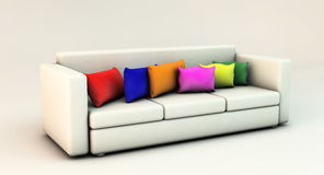 Sofa in 3d Royalty Free Stock Image