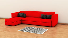 Sofa in 3d Royalty Free Stock Photo