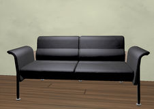 Sofa in 3d Royalty Free Stock Photos