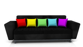 Sofa in 3d Royalty Free Stock Images