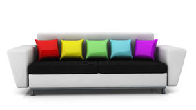 Sofa in 3d Royalty Free Stock Photography