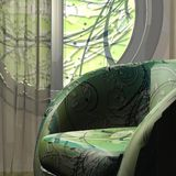 Sofa. 3d max. watch Royalty Free Stock Images