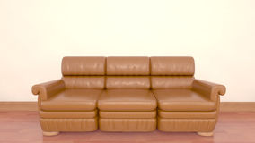 Sofa 3D render Royalty Free Stock Image