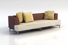 Sofa 3D rendering. Modern sofa 3D computer rendering stock illustration