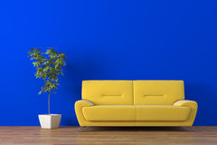 Sofa. Modern sofa with plant render Stock Photography