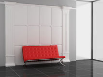 Sofa. In the office 3D Stock Image