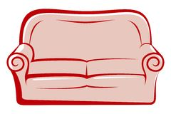 Sofa abstrait Photo stock