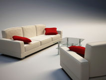 Sofa and armchair Royalty Free Stock Photos