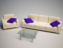 Sofa and armchair Stock Image