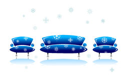 Sofa and armchair, christmas design Royalty Free Stock Images