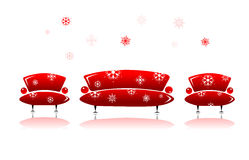Sofa and armchair, christmas design Stock Photo