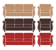 Sofa. Armchair Royalty Free Stock Photography
