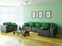 Sofa and armchair Stock Images