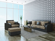 Sofa and armchair Royalty Free Stock Image
