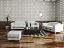 Sofa and armchair Stock Image