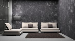 Sofa and armchair in the room Royalty Free Stock Photography
