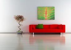 Sofa avec la peinture Photographie stock