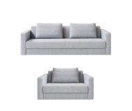 Sofa avec le fauteuil photo stock