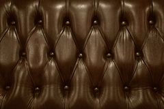 Sofa back made from brown leather Royalty Free Stock Photo