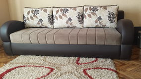 Sofa. Bad with pillow Stock Photography