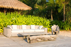 Sofa on the beach Stock Image