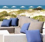 Sofa on the beach Stock Photo