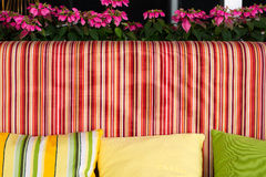 Sofa with beautiful colourful pillows. In the room Royalty Free Stock Photo