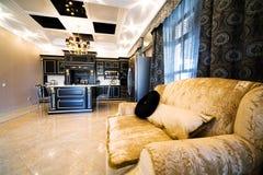 Sofa on beautiful kitchen Stock Photography