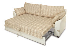 Sofa bed. Isolated sofa bed on wihte background Royalty Free Stock Image
