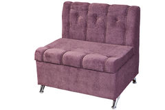 Sofa bed-chair transform into a single bed pull out armchair. Stock Images