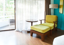 Sofa bed relaxing time decorated in room corner. Sofa bed relaxing time  decorated in room corner Stock Photo