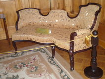 The sofa in the bedroom. Of Livadia Palace Crimea, Livadia Stock Photo