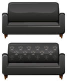 Sofa with black leather Stock Images