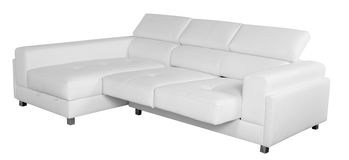 Sofa blanc Chemin de coupure Photos stock