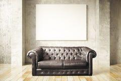 Sofa and blank billboard Royalty Free Stock Photography