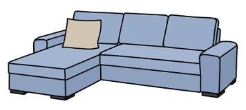 Sofa bleu-clair illustration de vecteur