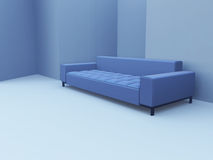 Sofa in blue Royalty Free Stock Photos