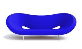 Sofa. Blue sofa on white background Royalty Free Stock Image