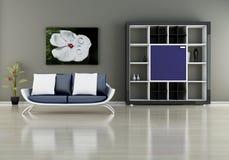 Sofa with bookshelf Royalty Free Stock Photography