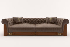 Sofa. Brown Royalty Free Stock Photos