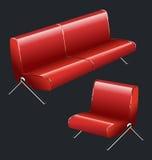 Sofa and chair Stock Photos