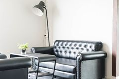 Sofa and chair interior decoration. In living room Stock Photos