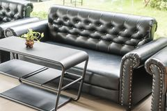 Sofa and chair interior decoration. In living room Royalty Free Stock Photography