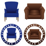 Sofa Chair Like Real Concept Logo Royalty Free Stock Images