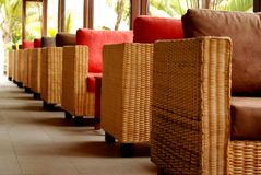 Sofa Chairs, resort, Mauritius Stock Photography