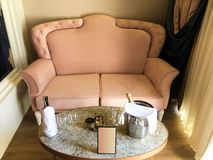 Sofa and champagne royalty free stock photo