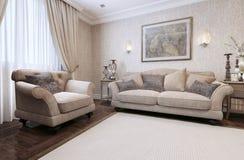 Sofa classic style Royalty Free Stock Image