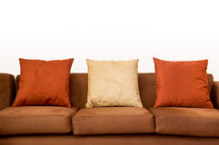 Sofa close up with copy space Stock Images
