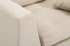 Sofa club chair sofa club, Light Beige Fabric Tufted Club Chair, Style Living Room Arm Chair, Size Sleeper sofas that are Perfect royalty free stock image