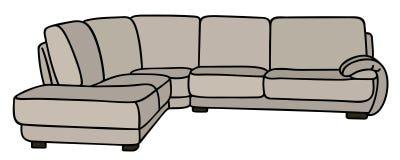 Sofa confortable blanc illustration libre de droits